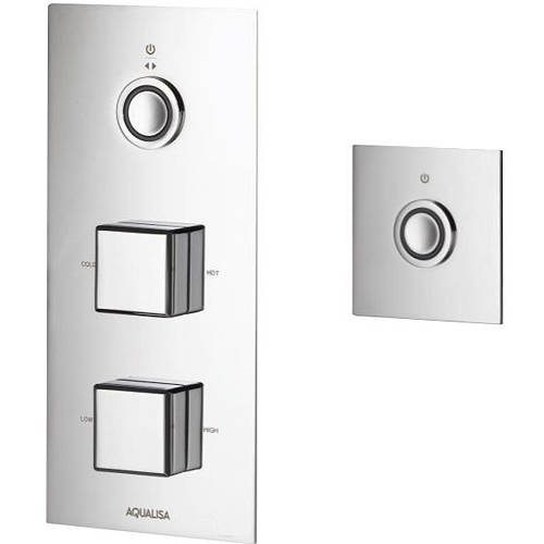 Larger image of Aqualisa Infinia Digital Shower & Remote (Chrome Piazza Handles, GP).