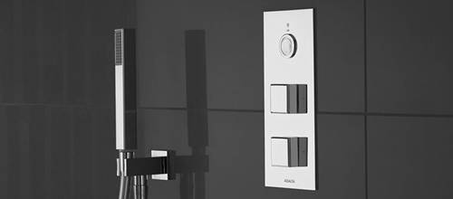 Example image of Aqualisa Infinia Digital Shower & Remote (Chrome Piazza Handles, GP).