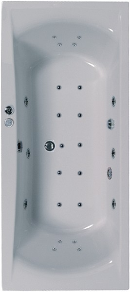 Larger image of Aquaestil Arena Eclipse Aquamaxx Whirlpool Bath. 24 Jets. 1800x800mm.