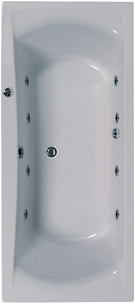 Larger image of Aquaestil Arena Double Ended Whirlpool Bath. 8 Jets. 1800x800mm.