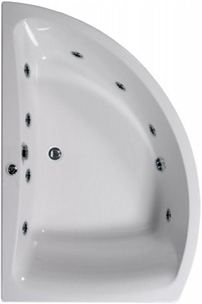Larger image of Aquaestil Comet Aquamaxx Corner Whirlpool Bath, 8 Jets. Left Handed.