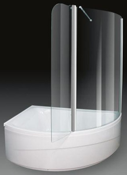 Larger image of Aquaestil Comet Corner Shower Bath With Screen.  Left Hand. 1500x1000mm.