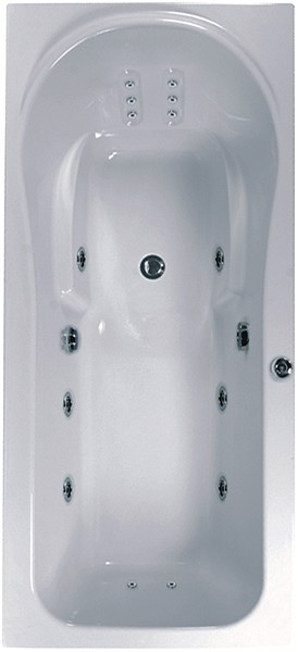Larger image of Aquaestil Iceland Large Whirlpool Bath. 14 Jets. 2000x900mm.