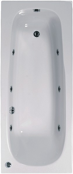 Larger image of Aquaestil Mercury Aquamaxx Whirlpool Bath. 6 Jets. 1700x700mm.
