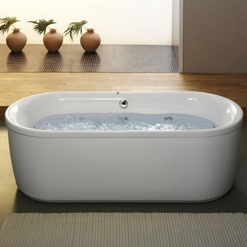 Larger image of Aquaestil Metauro Classic Freestanding 14 Jet Whirlpool Bath. 1800x800.