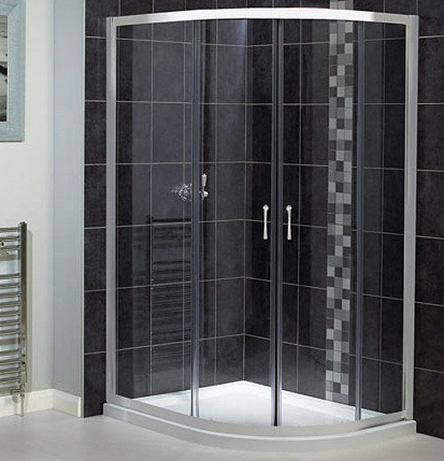 Larger image of Aqualux Shine Offset Quadrant 6 Shower Enclosure. 900x760mm.