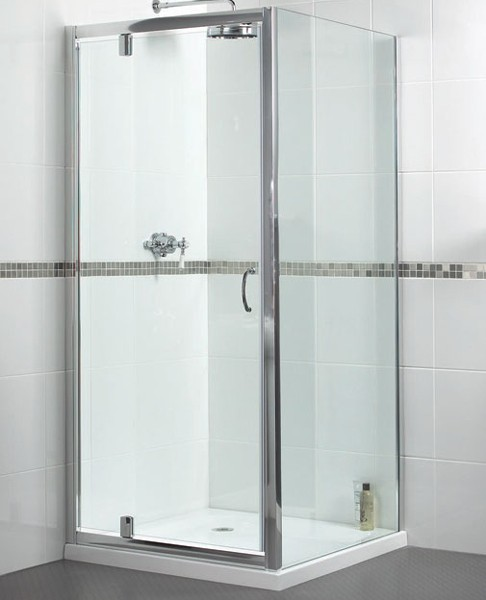 Larger image of Aqualux Shine Shower Enclosure With Pivot Door. 900x900mm, (Square).