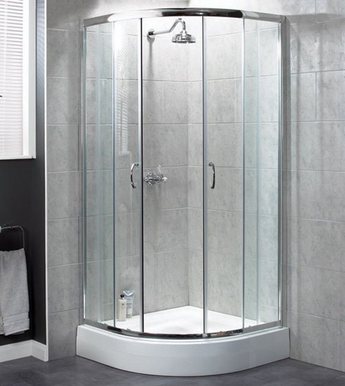 Larger image of Aqualux Shine Quadrant 6 Shower Enclosure 900mm 1161215.