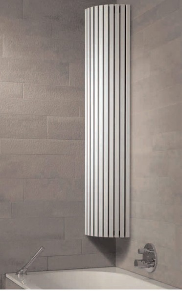 Bristan Heating Gt Carre 90 Corner Bathroom Radiator White