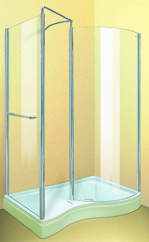 Larger image of Aqua Enclosures Hawaii Right Handed walk in shower enclosure with tray and waste