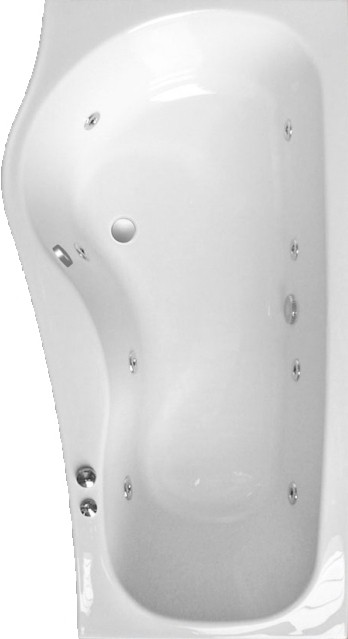 Example image of Saninova Complete Shower Bath (Left Handed).  1700mm. 6 Jet whirlpool.