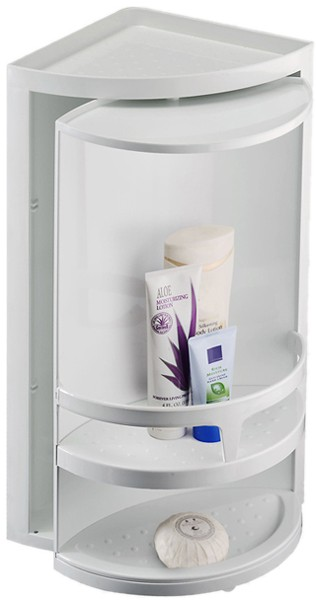 Example Image Of Croydex Cabinets Corner Rotating Bathroom Storage Unit.  300x490x210mm.