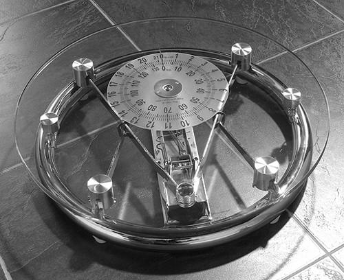 Croydex Scales Mechanical Glass Bathroom Scales Glass Chrome