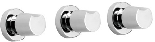 Larger image of Vado Ixus Wall Mounted Concealed 5 Hole Bath Shower Mixer Only.