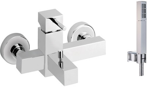 Larger image of Vado Mix2 Wall Mounted Exposed Bath Shower Mixer With Kit.