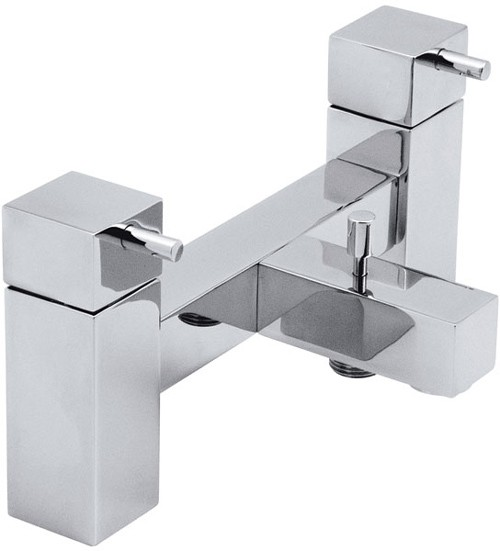 Larger image of Vado Mix2 Deck mounted 2 tap hole bath shower mixer, no kit.