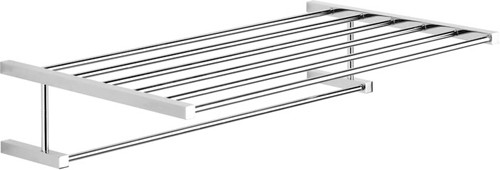 Larger image of Vado Mix2 Towel Rack with Rail. 515x300mm.