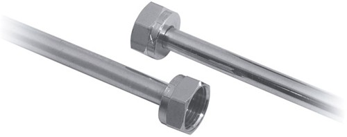 "Larger image of Vado Pex Chrome plated copper connector tube.  1/2"" x 1/2"" x 300mm."