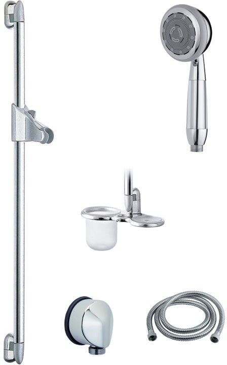 Larger image of Vado Shower 900mm H-Class multi function slide rail kit for low pressure use.