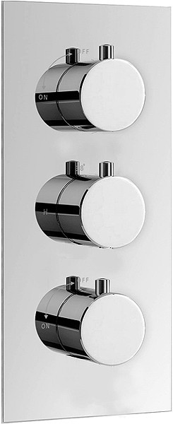 Hydra Showers > Triple Concealed Thermostatic Shower Valve (Chrome).