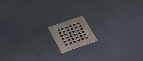 Example image of Slate Trays Offset Quad Shower Tray With Waste 1200x900 (Anthracite, LH).