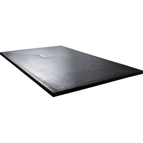 Larger image of Slate Trays Rectangular Shower Tray With Waste 1400x900mm (Anthracite).