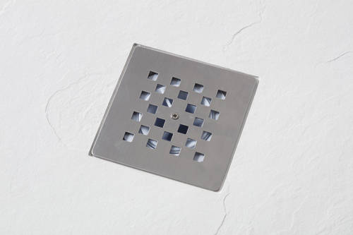 Example image of Slate Trays Offset Quad Shower Tray With Waste 1200x800mm (White, LH).