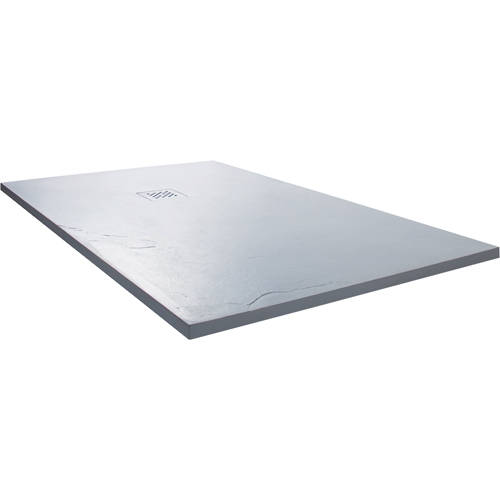 Larger image of Slate Trays Rectangular Shower Tray With Waste 1400x900mm (White).