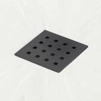 Example image of Slate Trays Square Shower Tray & Graphite Waste 800x800 (White).