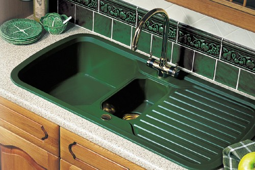 Rangemaster Rangestyle Gt 1 5 Bowl Green Sink With Brass Tap Amp Waste