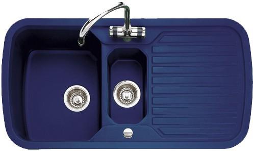 Rangemaster Rangestyle 1 5 Bowl Regal Blue Sink With