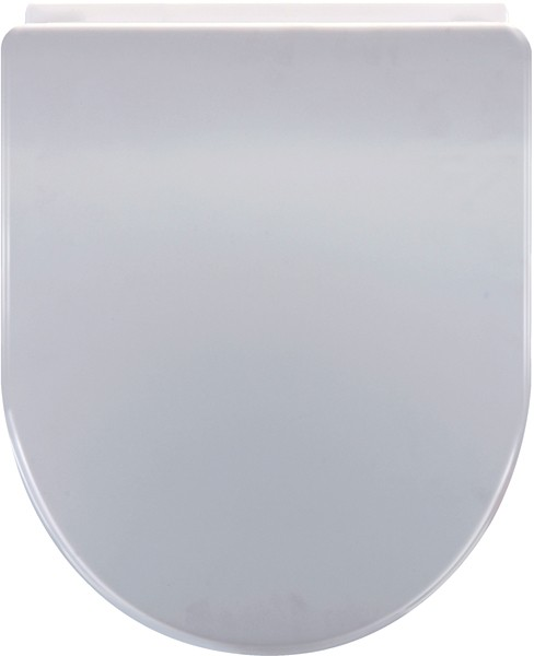 large d shaped toilet seat. Larger Image Of Crown Soft Close Toilet Seat  D Shaped White