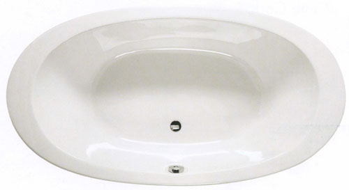 Larger image of Shires 1800 x 960mm Gomera acrylic oval bath with no tap holes.