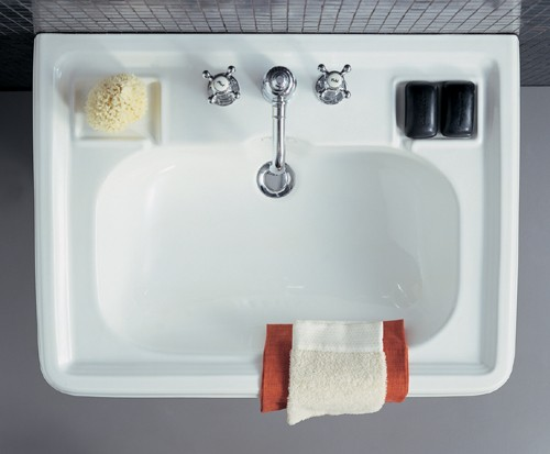 Example image of Arcade Vanity Unit With 1 Tap Hole  Basin. 735 x 540mm.