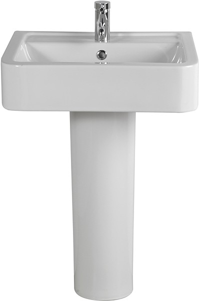 Larger image of Shires Parisi Basin & Pedestal (1 Tap Hole).  Size 580x460mm.