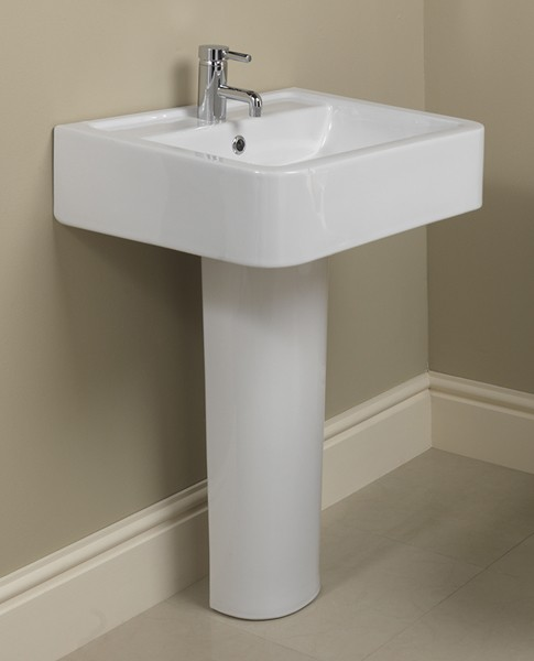 Example image of Shires Parisi Basin & Pedestal (1 Tap Hole).  Size 580x460mm.
