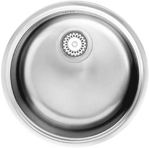Larger image of Smeg Sinks Round Bowl Inset Alba Kitchen Sink (Stainless Steel).