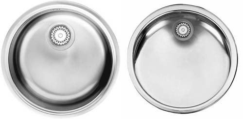 Larger image of Smeg Sinks Round Bowl Inset Alba Kitchen Sink & Drainer (Stainless Steel).