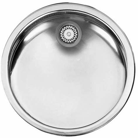 Larger image of Smeg Sinks Round Alba Bowl Drainer (Stainless Steel).
