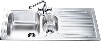 Larger image of Smeg Sinks Cucina 1.5 Bowl Stainless Steel Kitchen Sink, Reversible CUR150.