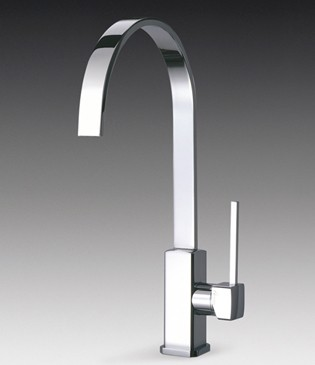 Larger image of Smeg Taps Imola Single Lever Kitchen Tap With Water Saving Valve.