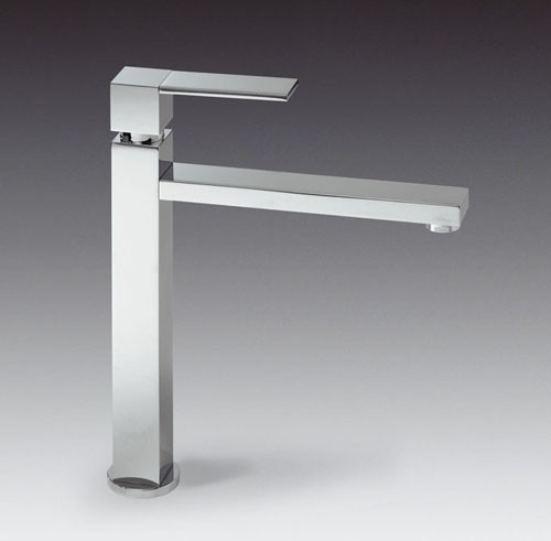 Larger image of Smeg Taps Tall Kitchen Tap With Single Lever Control (Brushed Stainless Steel).
