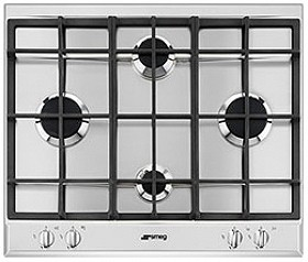 Larger image of Smeg Gas Hobs 4 Burner Gas Hob. 60cm (Stainless Steel).