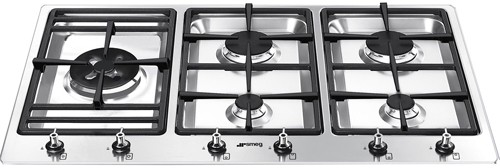 Larger image of Smeg Gas Hobs Classic 5 Burner Gas Hob. 90cm (Stainless Steel).
