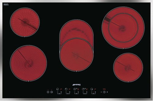 Larger image of Smeg Ceramic Hobs 5 Ring Touch Control Ceramic Hob & Thin Frame. 77cm.