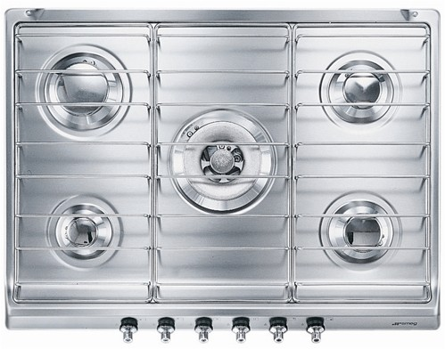 Larger image of Smeg Gas Hobs Classic 5 Burner Gas Hob. 70cm (Stainless Steel).