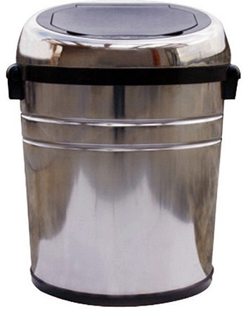 Larger image of Auto Sensor Bin 68 Litre Stainless Steel Waste Bin. (Large)