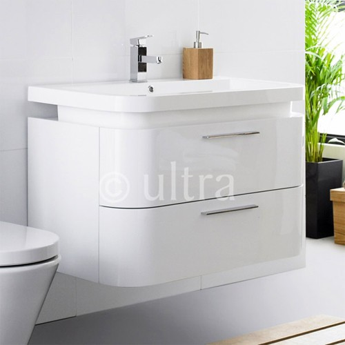 Ultra Bias Gt Wall Mounted Vanity Unit With Curved Corners