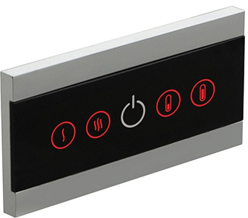 Example image of Vado Identity LED Wall Mounted Waterfall Basin Tap With Control Panel.