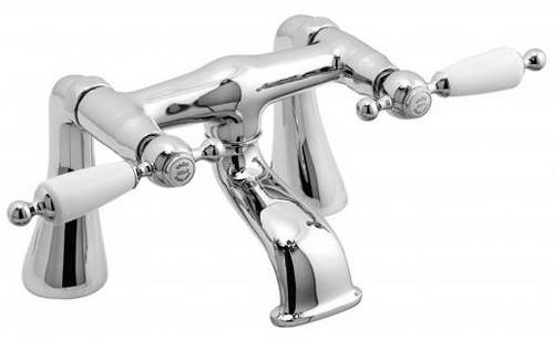 Example image of Vado Kensington Basin Mixer & Bath Filler Tap Pack (Chrome & White).